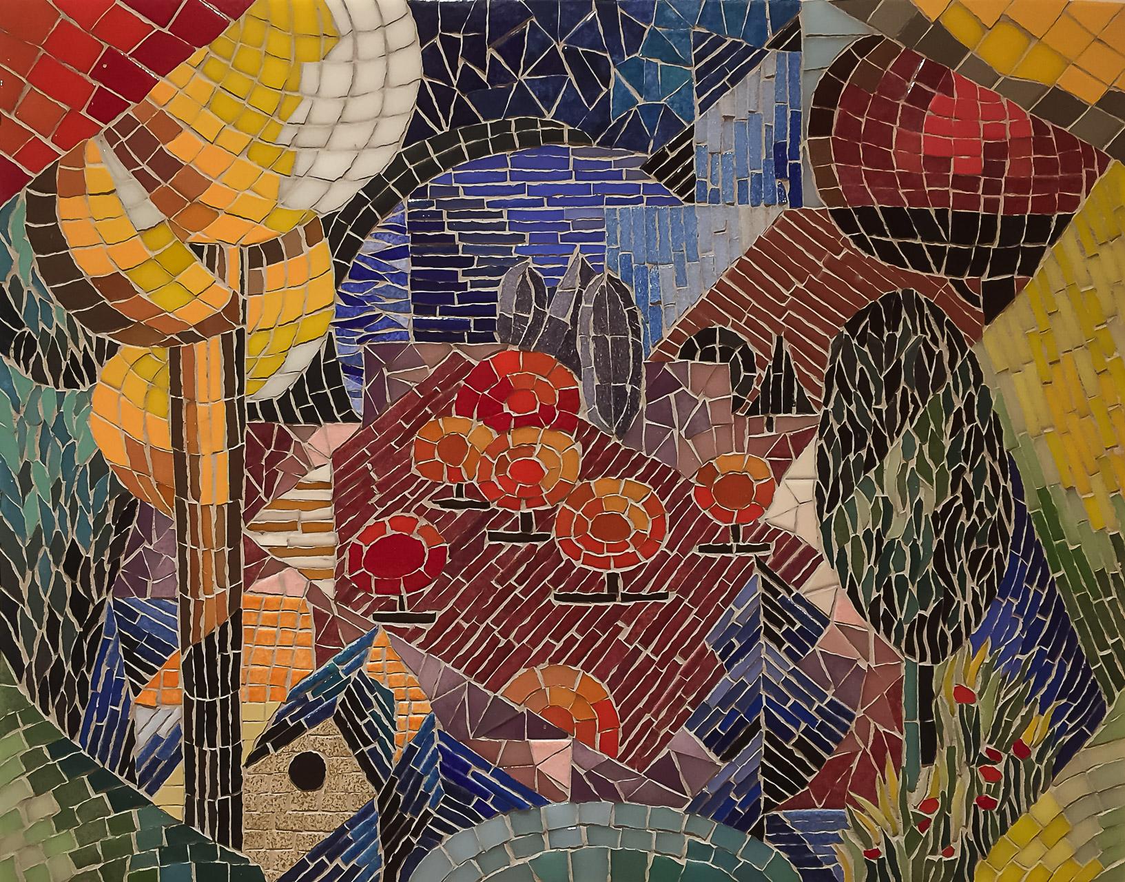 D'après Paysage (Landscape) (huile sur toile, 1912-1914?) de Jean Metzinger, The Museum of Modern Art, New York