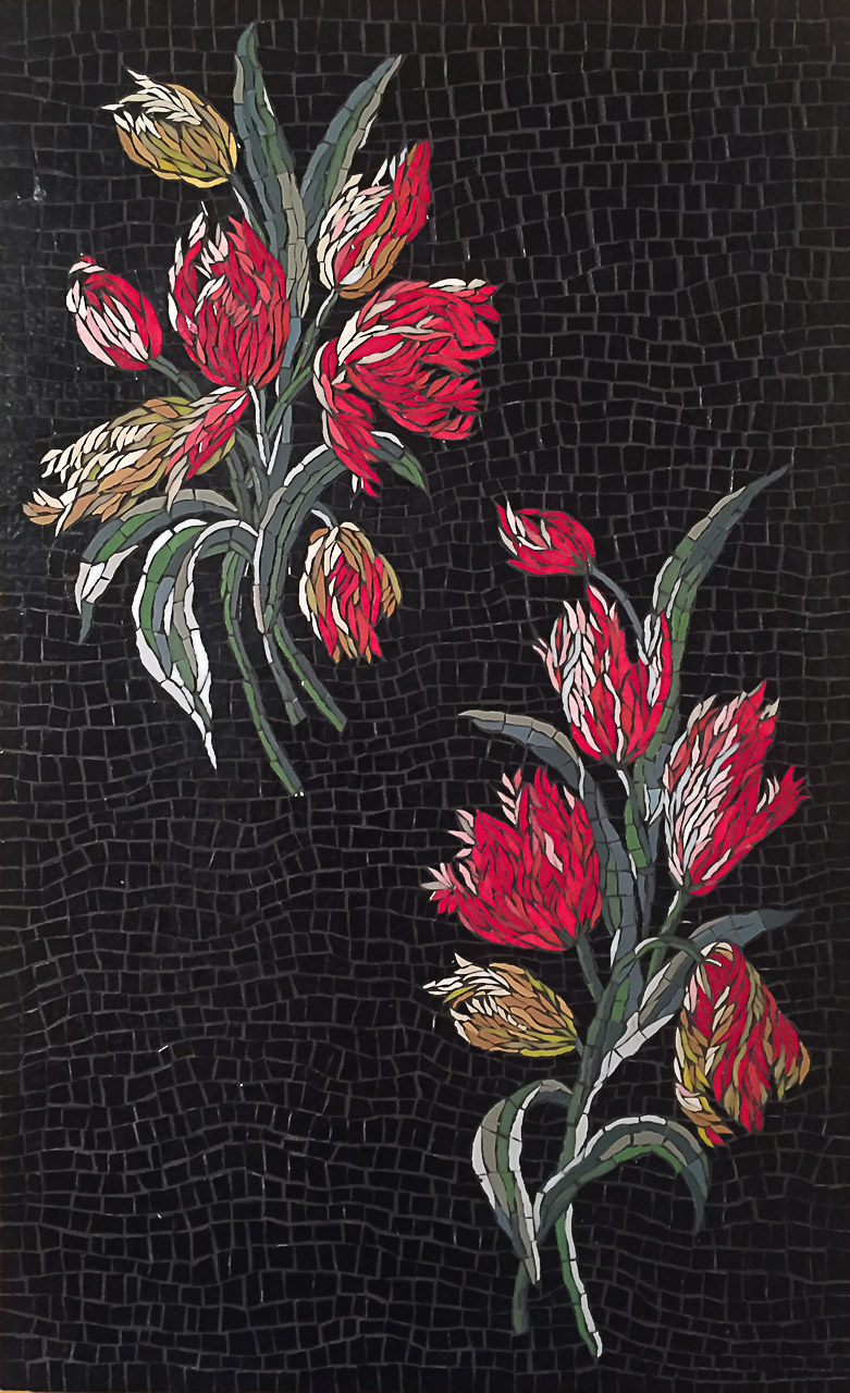 "Feu d'artifice. D'après ""Tulipes hollandaises"" (textile,1899) par Charles Frederick Worth, Brooklyn Museum Costume Collection at The Met, New York"